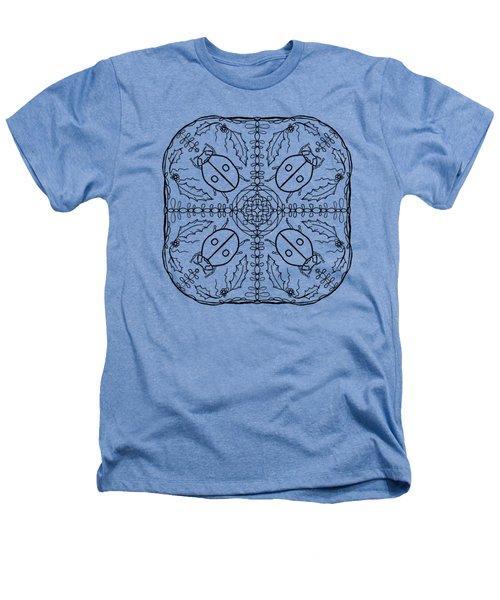 Ladybug Mandala Heathers T-Shirt by Tanya Provines