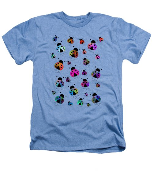 Ladybugs In Flight Heathers T-Shirt