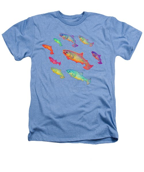 Leaping Salmon Shirt Image Heathers T-Shirt by Teresa Ascone
