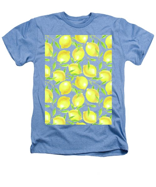 Lemons And Leaves  Pattern Design Heathers T-Shirt
