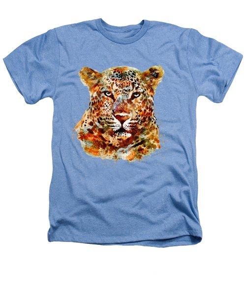 Leopard Head Watercolor Heathers T-Shirt