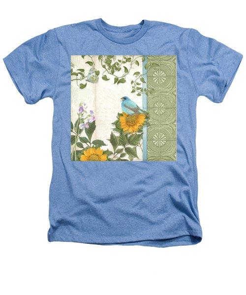 Les Magnifiques Fleurs Iv - Secret Garden Heathers T-Shirt by Audrey Jeanne Roberts