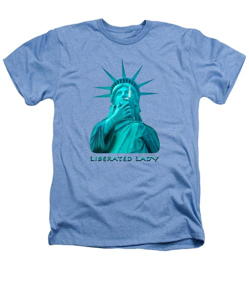 Liberated Lady 3 Heathers T-Shirt by Mike McGlothlen