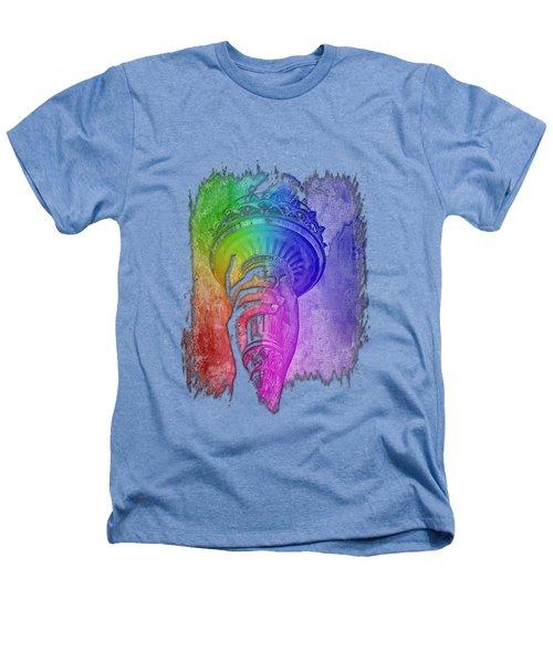 Light The Path Cool Rainbow 3 Dimensional Heathers T-Shirt