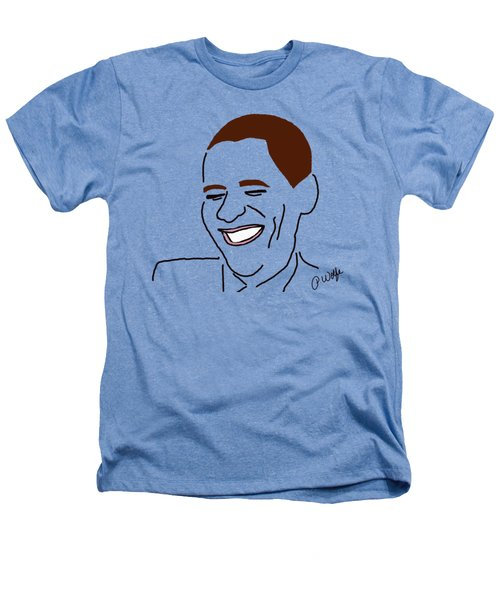 Line Art Man Heathers T-Shirt by Priscilla Wolfe