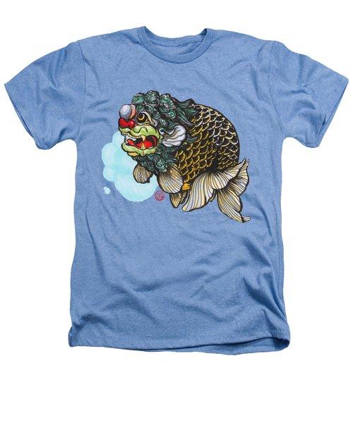 Lion Head Ranchu Heathers T-Shirt by Shih Chang Yang