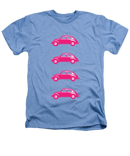 Little Pink Beetles Heathers T-Shirt by Edward Fielding