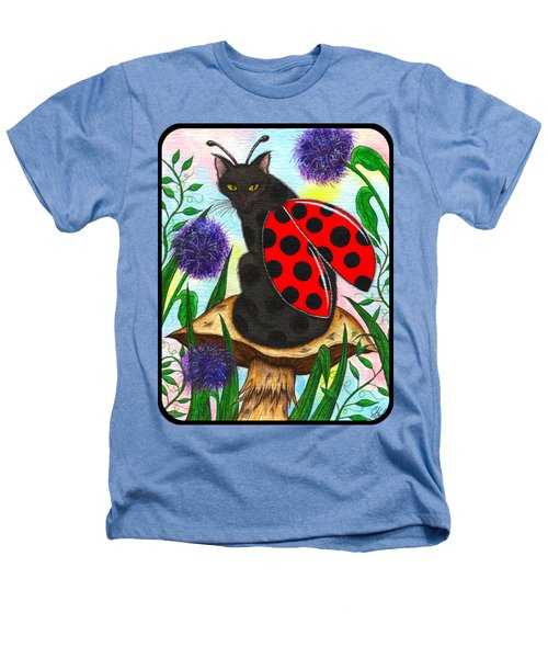 Logan Ladybug Fairy Cat Heathers T-Shirt by Carrie Hawks