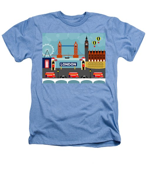 London England Horizontal Scene - Collage Heathers T-Shirt by Karen Young