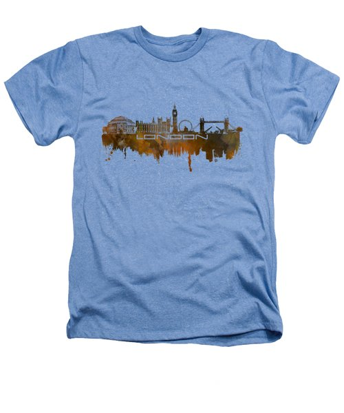 London Skyline City Brown Heathers T-Shirt by Justyna JBJart