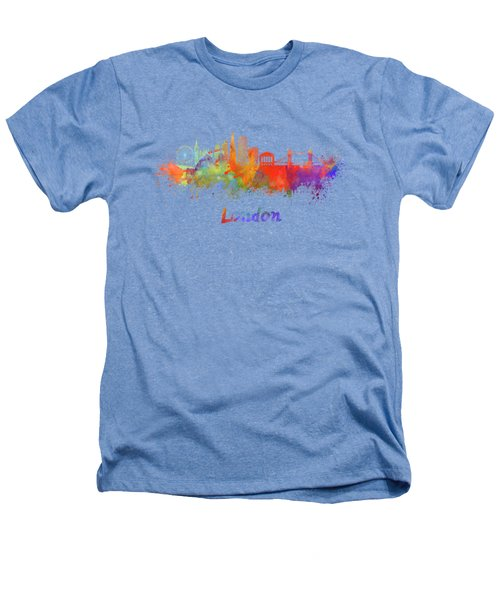 London V2 Skyline In Watercolor  Heathers T-Shirt