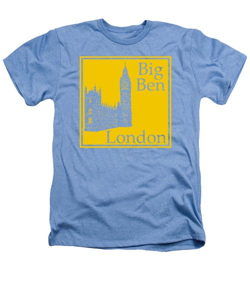 London's Big Ben In Mustard Yellow Heathers T-Shirt