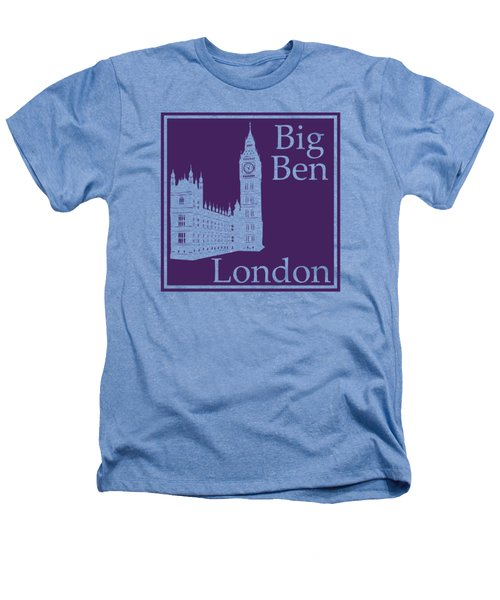 London's Big Ben In Purple Heathers T-Shirt by Custom Home Fashions