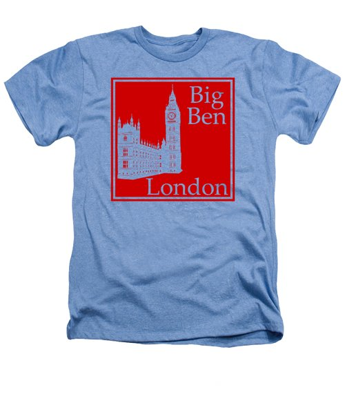 London's Big Ben In Red Heathers T-Shirt by Custom Home Fashions