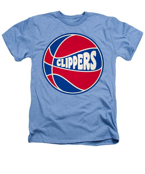 Los Angeles Clippers Retro Shirt Heathers T-Shirt by Joe Hamilton