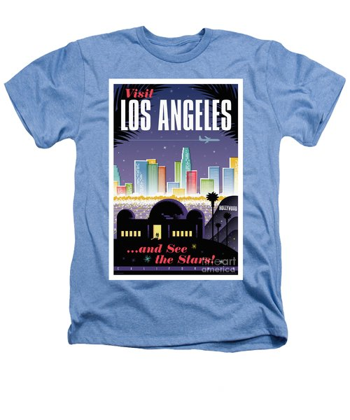 Los Angeles Retro Travel Poster Heathers T-Shirt