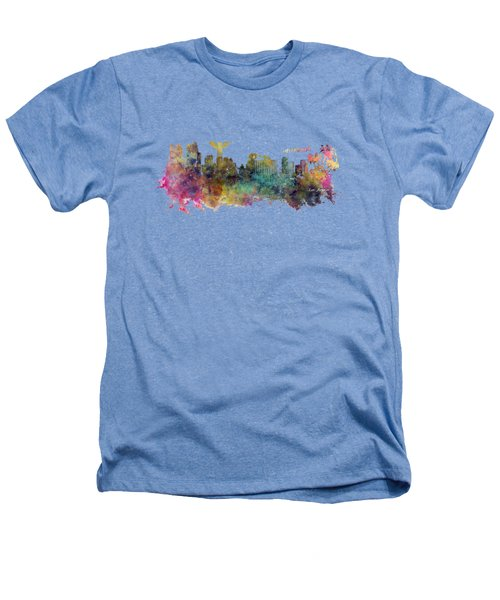 Los Angeles Skyline Heathers T-Shirt by Justyna JBJart