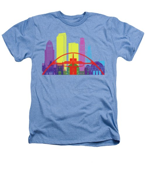 Los Angeles Skyline Pop Heathers T-Shirt by Pablo Romero