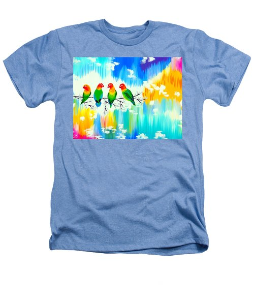 Lovebirds On A Branch Heathers T-Shirt by Cathy Jacobs