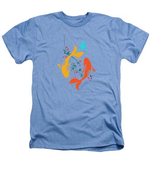 Lucky Koi Fish Heathers T-Shirt by Naviblue