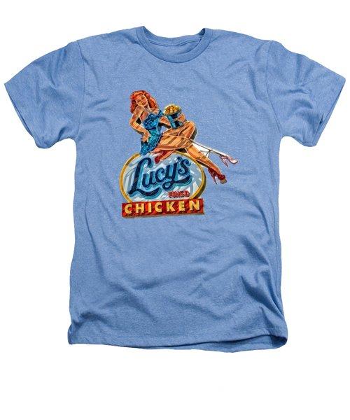 Lucys Fried Chicken Tee Heathers T-Shirt by Edward Fielding