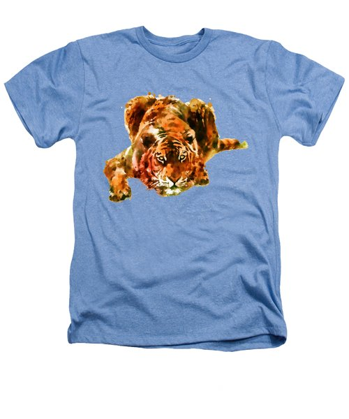 Lurking Tiger Heathers T-Shirt by Marian Voicu