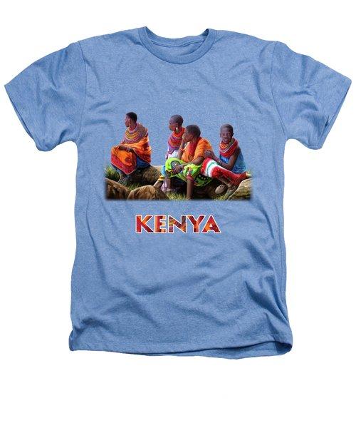 Maasai Women Heathers T-Shirt by Anthony Mwangi