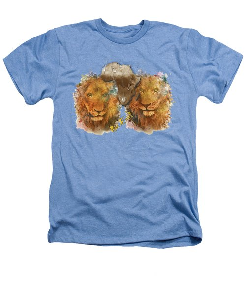 Majestic Lions Surrounded By Pythons Heathers T-Shirt