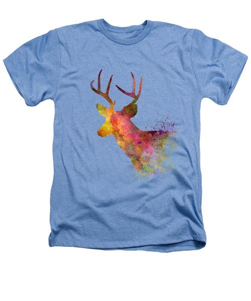 Male Deer 02 In Watercolor Heathers T-Shirt by Pablo Romero