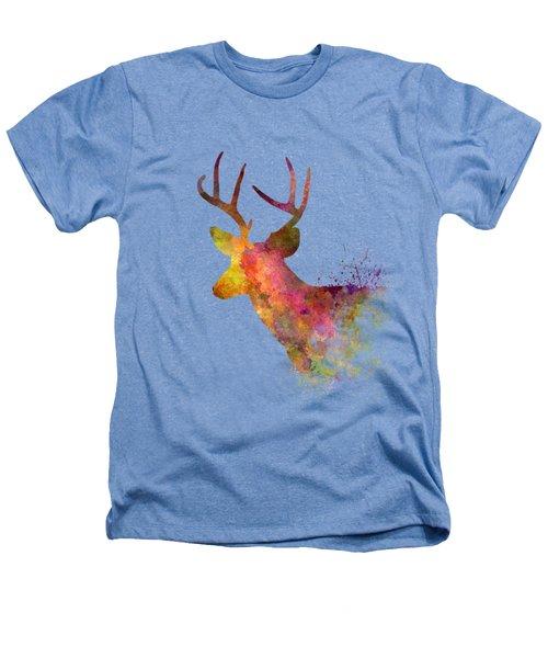 Male Deer 02 In Watercolor Heathers T-Shirt