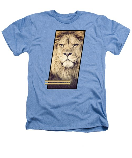 Male Lion Heathers T-Shirt by Sven Horn