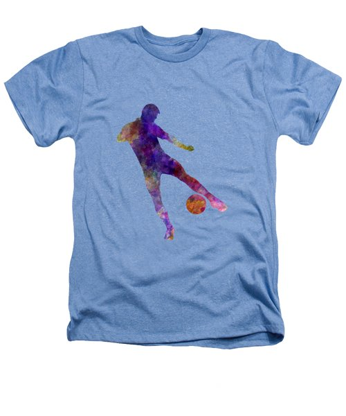 Man Soccer Football Player 02 Heathers T-Shirt by Pablo Romero