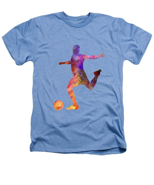 Man Soccer Football Player 03 Heathers T-Shirt by Pablo Romero