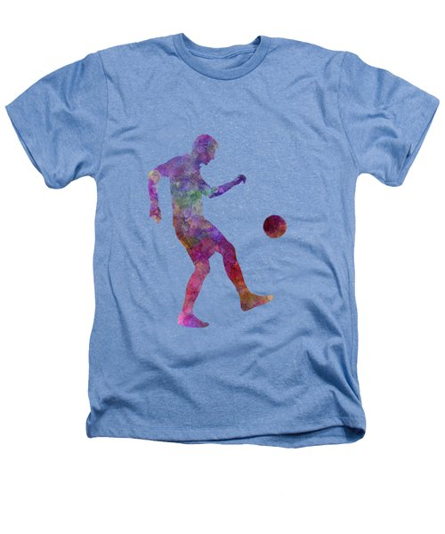 Man Soccer Football Player 04 Heathers T-Shirt by Pablo Romero