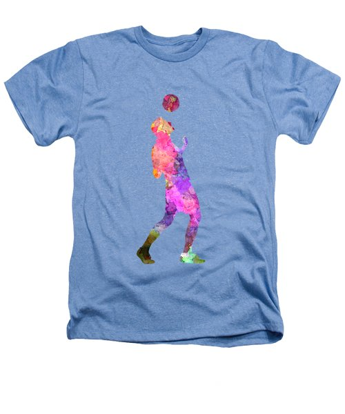 Man Soccer Football Player 06 Heathers T-Shirt by Pablo Romero