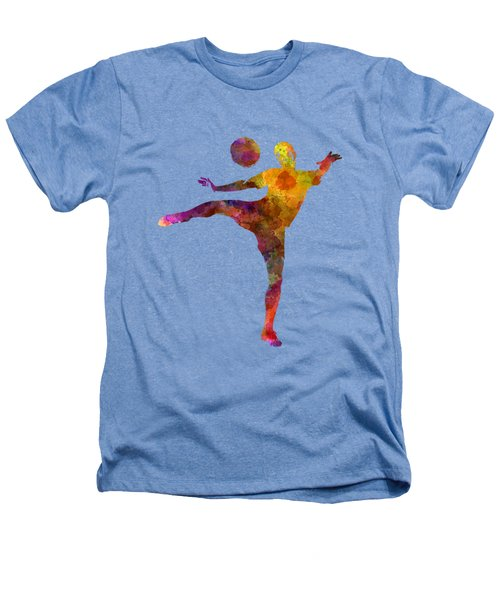 Man Soccer Football Player 07 Heathers T-Shirt by Pablo Romero