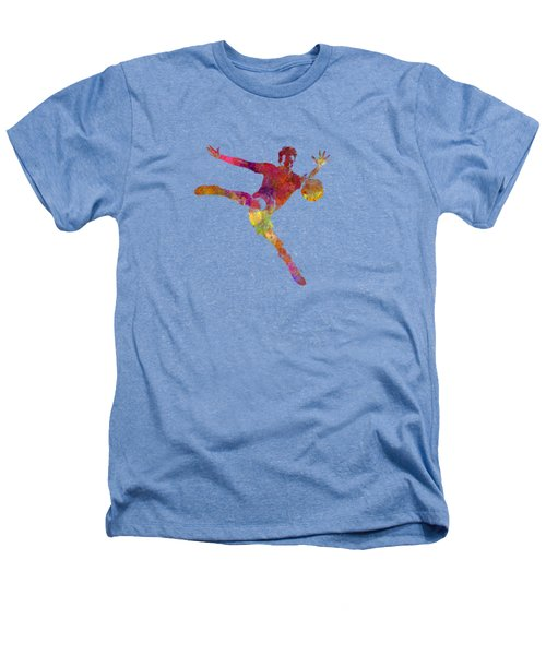 Man Soccer Football Player 08 Heathers T-Shirt by Pablo Romero