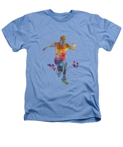 Man Soccer Football Player 09 Heathers T-Shirt