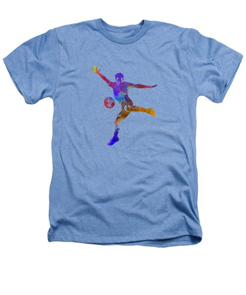 Man Soccer Football Player 14 Heathers T-Shirt by Pablo Romero