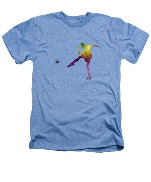 Man Soccer Football Player 15 Heathers T-Shirt