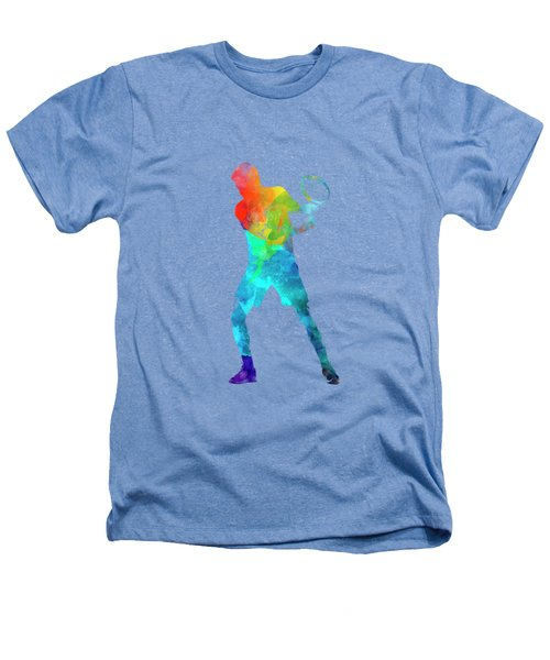 Man Tennis Player 02 In Watercolor Heathers T-Shirt