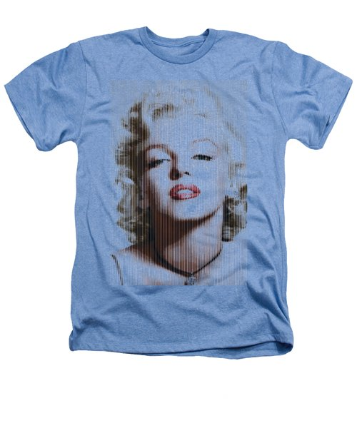 Marilyn Monroe - Colored Verticals Heathers T-Shirt by Samuel Majcen