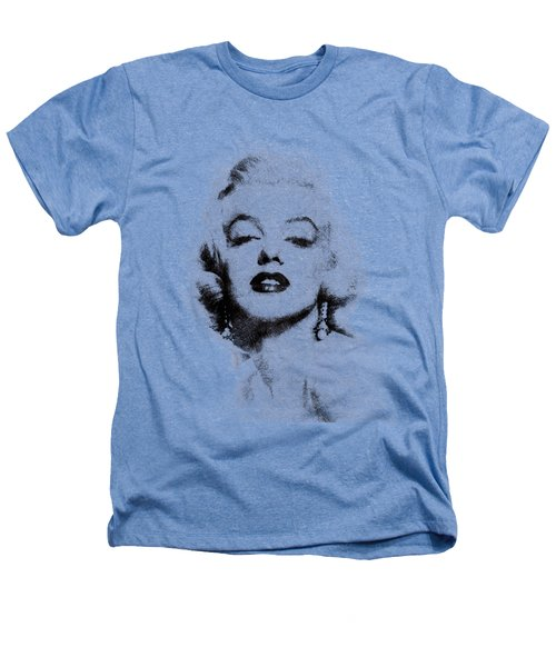Marilyn Monroe Portrait 02 Heathers T-Shirt by Pablo Romero