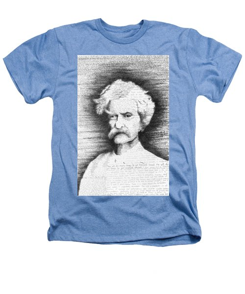 Mark Twain In His Own Words Heathers T-Shirt by Phil Vance