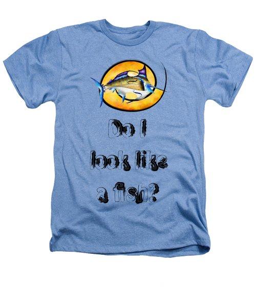 Marlinissos V1 - Violinfish With Text Heathers T-Shirt