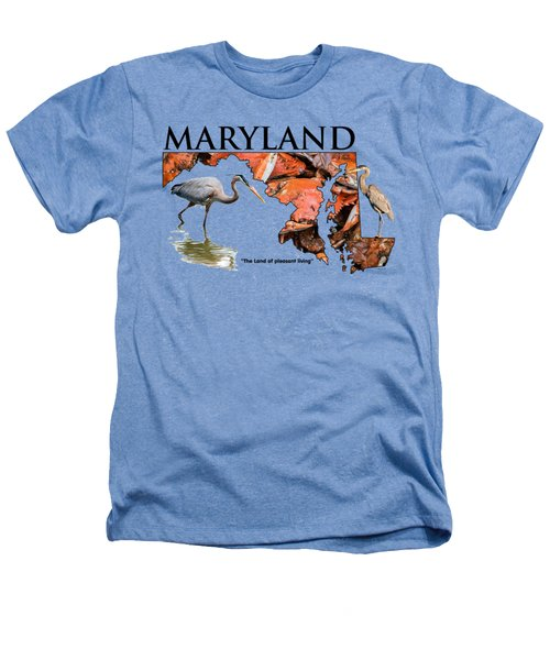 Maryland - The Land Of Pleasant Living Heathers T-Shirt