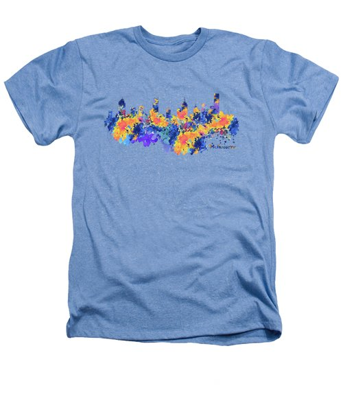 Melbourne Watercolor Skyline Heathers T-Shirt