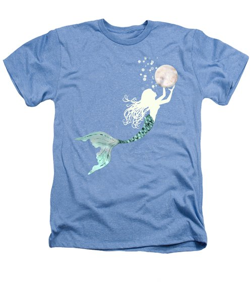 Mermaid Gathering Pearls Creamy White Siren Holds A Huge Pearl Heathers T-Shirt by Tina Lavoie