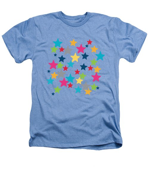 Messy Stars- Shirt Heathers T-Shirt by Linda Woods