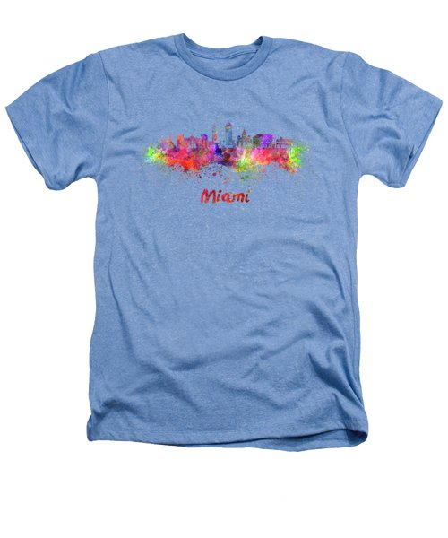 Miami V2 Skyline In Watercolor Heathers T-Shirt